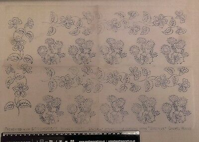Vintage embroidery transfer - March 1941