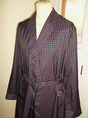 Vintage Canda @ C&A Shawl Collar Smoking Jacket Dressing Gown Robe L Chest 42""