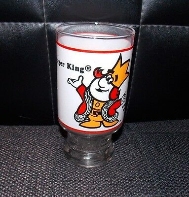 Vintage Burger King Tall Glass Advertising Restaurant Logo Home of the Whopper