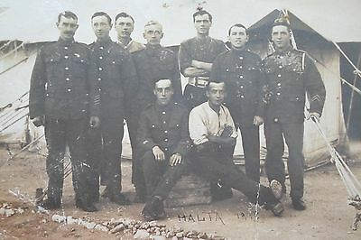 Group of Soldiers at Malta Camp 1918? - Military Postcard