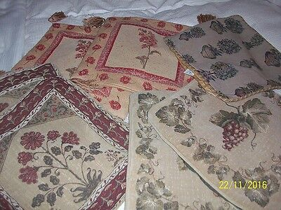 7   Antique  /  Vintage  Tapestry  Type  Cushion  Covers