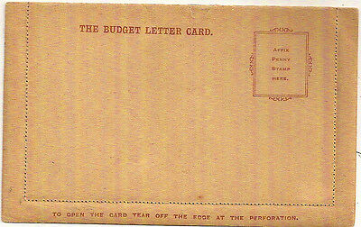 GB c1890s BUDGET LETTER CARD MINT UNUSED 1d LANGLEY & SONS LONDON