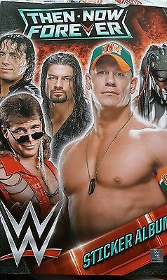 Wwe Then Now Forever Sticker Album (Empty)