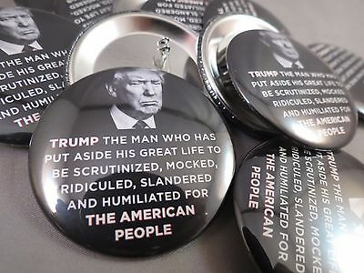WHOLESALE LOT OF 22 TRUMP FOR THE AMERICAN PEOPLE MEMORIAL BUTTONS bw photo 2016