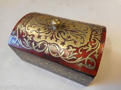 Antique Desktop Boulle Vesta , Match Striker  Box   ref 603