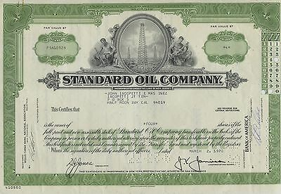 Lot of 3 STANDARD OIL COMPANY - Well Stock Certificates