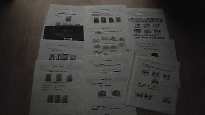 GB Mint & Used Sets Commemorative Stamps 1973 & 1974 on 11 album pages
