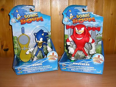 Sonic Boom - 6 Inch Sonic And Knuckles Articulated Figures NEW FREE POSTAGE UK
