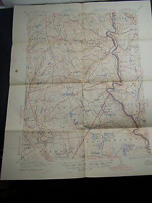 Topographic Map From Damascus, Pa/ny Dated 1944