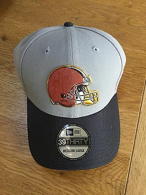 Cleveland Browns New Era NFL Gold Collection Grey 39THIRTY Stretch Fit Cap- M/L