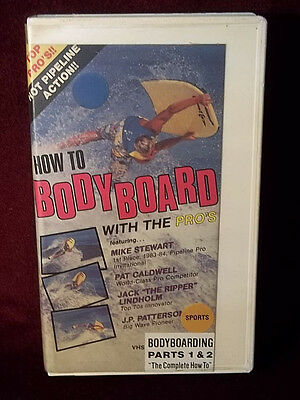 How To Bodyboard With The Pros 1986 VHS Video Surfing Beginning-Advanced Surfers