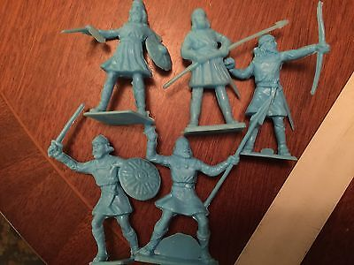 Marksman Saxon Viking Soldier Warriors 1990s Set Of 5.      Collectable 70mm Rar
