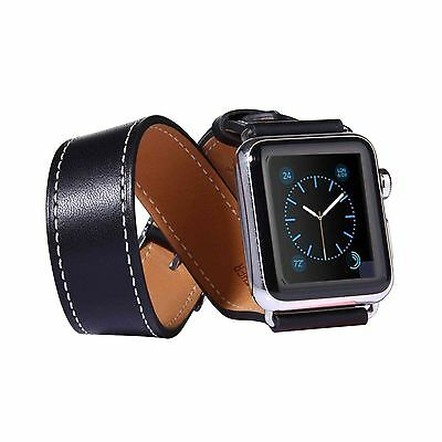 Tuff-Luv Looped Leather Watch Strap and Connector for Apple Watch 1 / 2 - 42mm