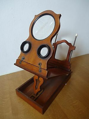 Antique Victorian Stereoscope Graphoscope Viewer Rowsell Type Folding Model