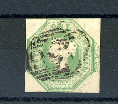 Great Britain 1847-54  Embossed  1s Green  (SG 55)   fine-used  (D502)