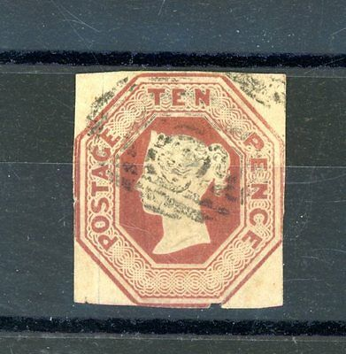 Great Britain 1847-54  Embossed  10d Brown  (SG 57)   fine-used  (D504)