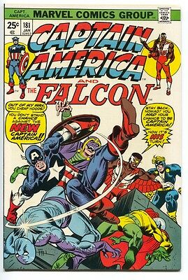 Captain America And The Falcon 181 1st Series Marvel 1975 FN VF