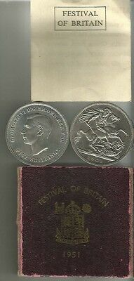 1951 crown boxed and c.o.a