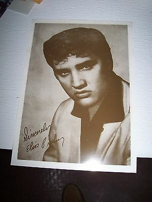 Elvis Presley Autograph Signed* Photo Of Elvis In His Early Years Mint