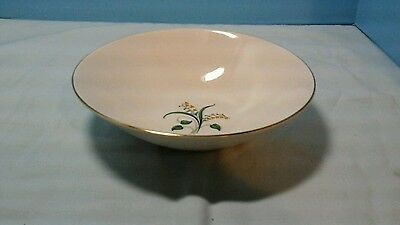 "Knowles Forsythia Round 8-3/4""  Serving Or Vegetable Bowl Gold Trim"