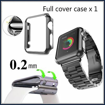 Clear Apple iWatch Watch 38mm Hard & Slim Protective Case with Screen Protect