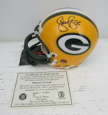 Dorsey Levens Green Bay Packers Signed/Autographed Mini Helmet 127940