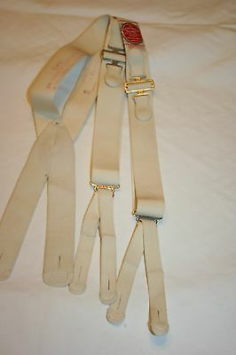 C H Guyot France Vintage Antique Braces Suspenders Unused With Paper Label