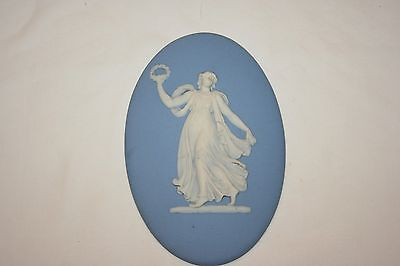 Wedgwood Oval Jasper Ware Plaque Dancing Girl