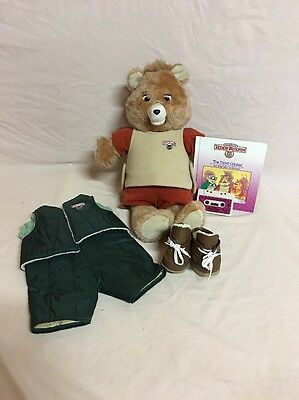 Vintage 2nd Generation Teddy Ruxpin Lot With Third Crystal Book/tape~works