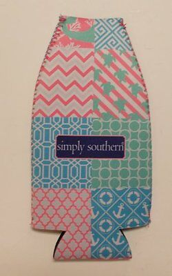 Simply Southern Collection Patchwork Bottle Holder Insulated Koozie