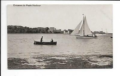 Old postcard, Dorset: 'Entrance to Poole Harbour'.