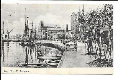 Old postcard, Suffolk: 'The Orwell, Ipswich'. Posted 1905.