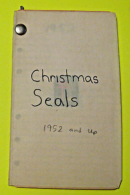 Vintage Mini Collection Of United States Christmas Seal Stamps ~ 1952 - 1972 ~