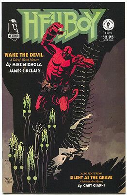 Hellboy Wake The Devil 4 of 5 Dark Horse 1996 VF NM