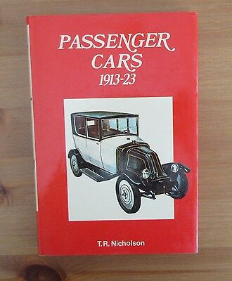 PASSENGER CARS 1913 - 1923 BOOK nicholson CARS OF WORLD colour color
