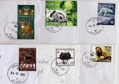 Latvia:  Animals Stamps  On Letters