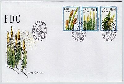 Aland (Finland): Nordic Plants Set 2001 Fdc