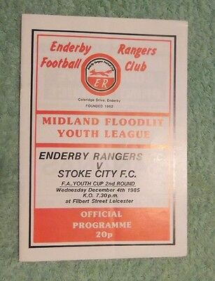 1985/86 Enderby Rangers v Stoke City FA Youth Cup