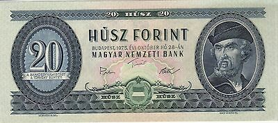 1975 20 Forint Hungary Currency Gem Unc Banknote Note Money Bank Bill Cash Cu