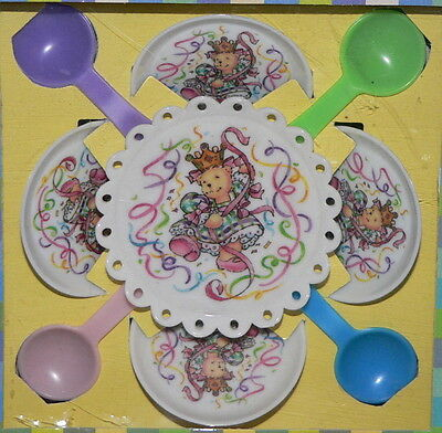 Muffy Vanderbear Happy Birthday To You Party Set Table Setting Cake Plate Vtg
