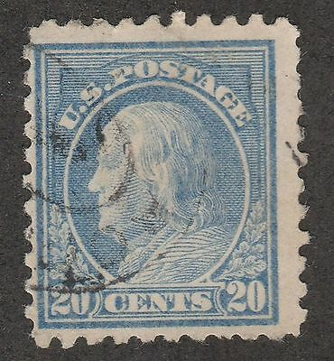 USA Scott #  438  Perf 10 SLW Franklin 20 Cents Used ( 438-3)