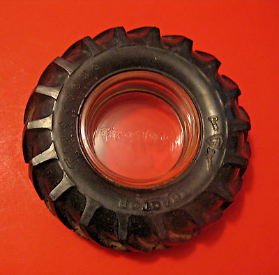 Vintage Firestone Gum Dipped Champ. Ground Grip Tractor Tire Advertising Ashtray