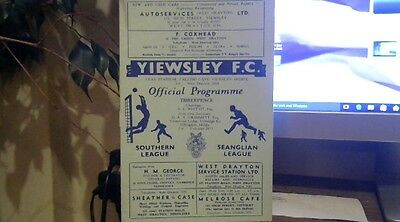 YIEWSLEY  V  RAMSGATE ATHLETIC  1960/1   southern lge