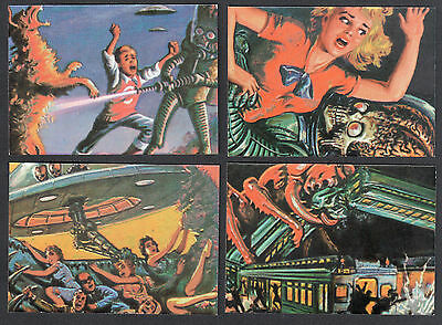 MARS ATTACKS! ARCHIVES (Topps/1994) Complete MATRIX Foil Chase Card Set (4)