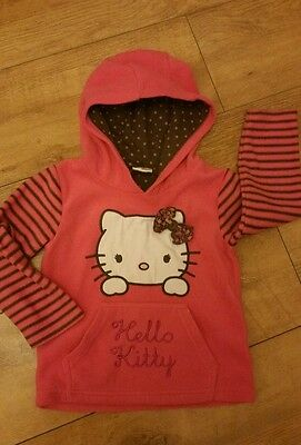 HELLO KITTY. Girls Fleece Hoodie. Age 3-4yrs.