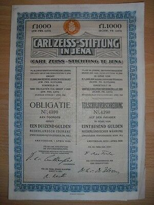 Carl Zeiss Stiftung in Jena  1926