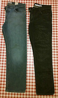 Mens Lee Cooper blue jeans 36 32 AND DKNY black jeans 36R
