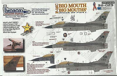 TwoBobs Decals 32-029 F-16C Falcon decals in 1:32 Scale
