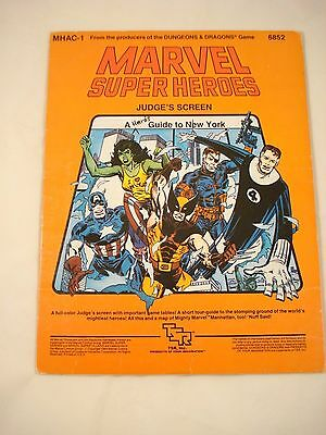 Marvel Super Heroes JUDGE'S SCREEN TSR Role Playing Game MHAC-1 6852 198