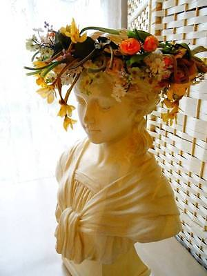 A Stunning Antique Spring Floral Wedding Crown